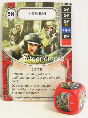 Star Wars Destiny - #027 Strike Team + Die - red - Force Friday Starter