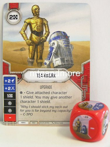 Star Wars Destiny - #028 Teamwork + Die - red - Force Friday Starter