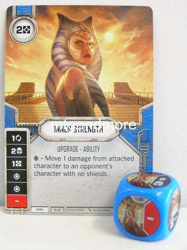 Star Wars Destiny - #031 Inner Strength + Die - blue - Force Friday Starter