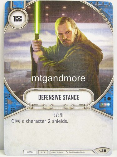 Star Wars Destiny - #039 Defensive Stance - Force Friday Starter