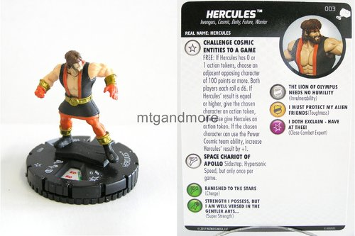 Heroclix - #003 Hercules - The Mighty Thor