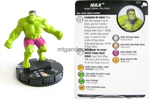 Heroclix - #005 Hulk - The Mighty Thor