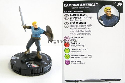 Heroclix - #006 Captain America - The Mighty Thor