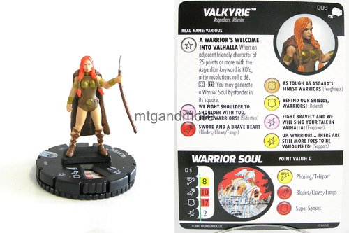 Heroclix - #009 Valkyrie - The Mighty Thor