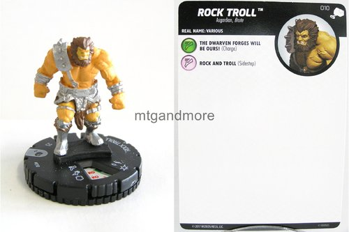 Heroclix - #010 Rock Troll - The Mighty Thor