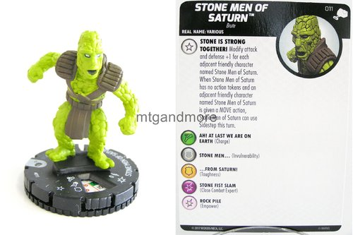 Heroclix - #011 Stone Men of Saturn - The Mighty Thor