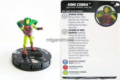 Heroclix - #014 King Cobra - The Mighty Thor
