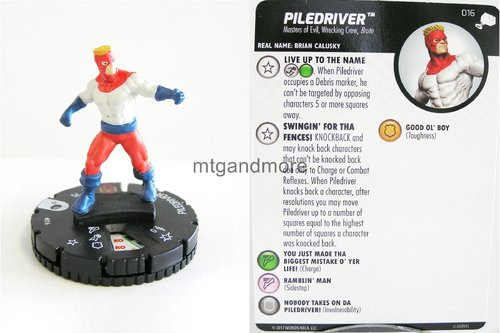 Heroclix - #016 Piledriver - The Mighty Thor
