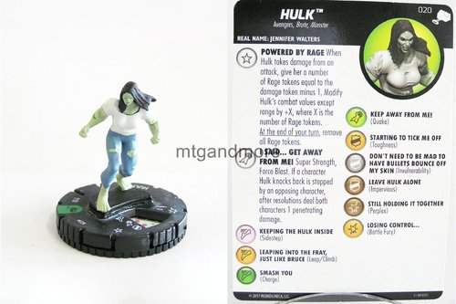Heroclix - #020 Hulk - The Mighty Thor