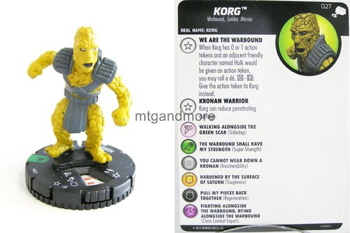 Heroclix - #027 Korg - The Mighty Thor