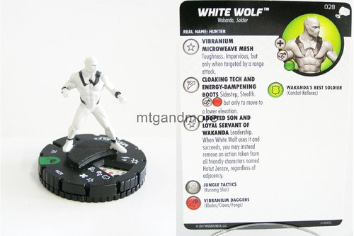 Heroclix - #028 White Wolf - The Mighty Thor
