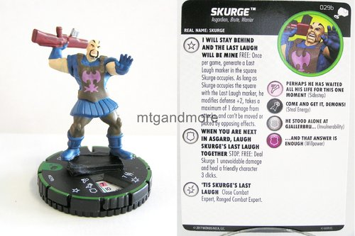 Heroclix - #029b Skurge - The Mighty Thor