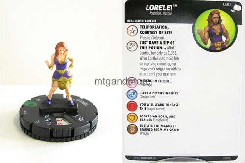 Heroclix - #030 Lorelei - The Mighty Thor