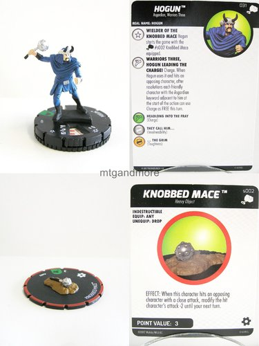 Heroclix - #031 Hogun + #s002 Knobbed Mace - The Mighty Thor