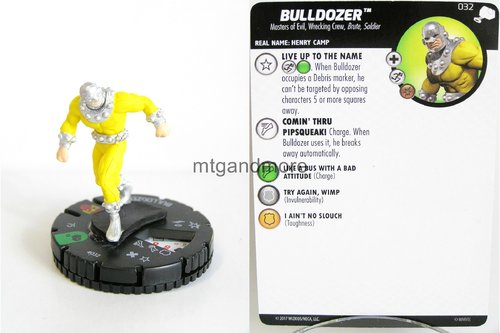 Heroclix - #032 Bulldozer - The Mighty Thor