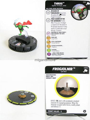 Heroclix - #033 Throg + #s003 Frogjolnir - The Mighty Thor