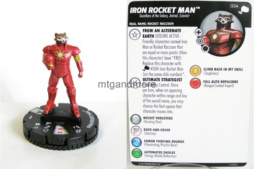Heroclix - #034 Iron Rocket Man - The Mighty Thor