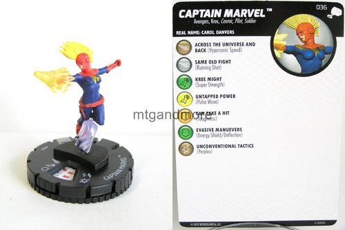 Heroclix - #036 Captain Marvel - The Mighty Thor