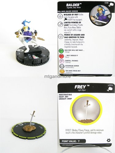 Heroclix - #038 Balder + #s004 Frey - The Mighty Thor