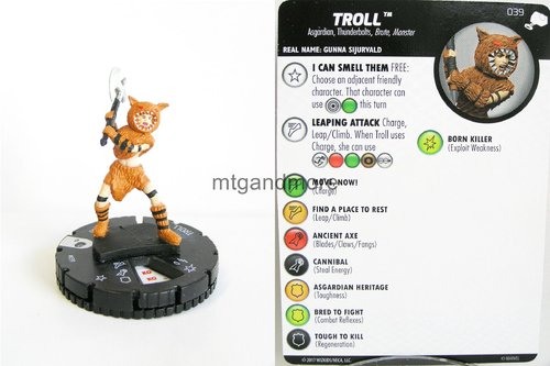 Heroclix - #039 Troll - The Mighty Thor