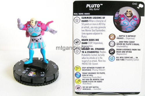 Heroclix - #040 Pluto - The Mighty Thor