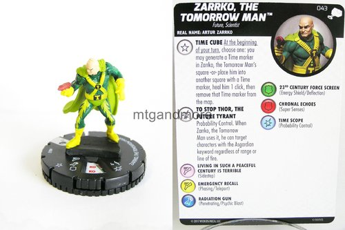 Heroclix - #043 Zarrko, The Tomorrow Man - The Mighty Thor