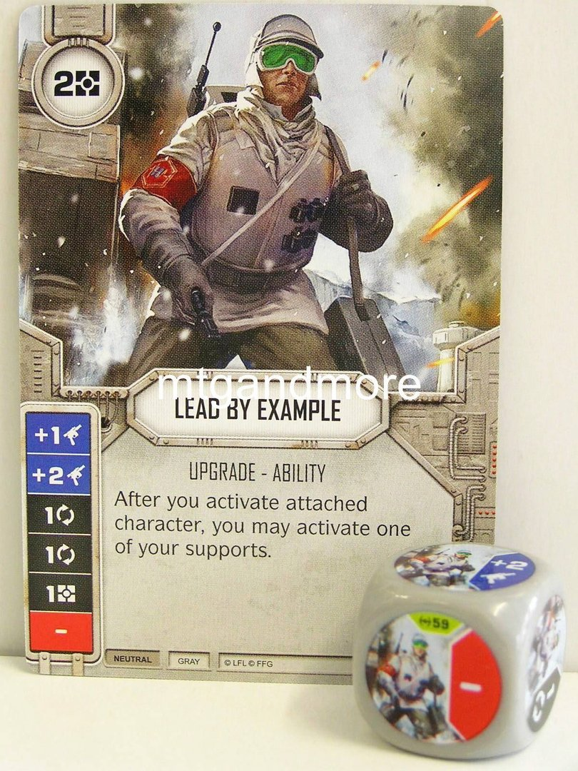 Star Wars Destiny #059 lead by example Dice-Grey-Empire at War