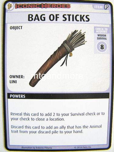 Pathfinder Battles - Bag of Sticks Boon Card - Iconic Heroes