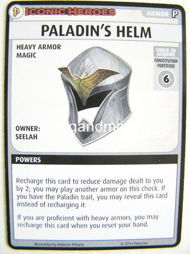 Pathfinder Battles - Paladin´s Helm Boon Card - Iconic Heroes