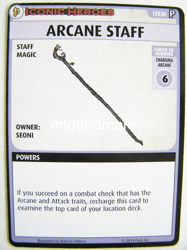 Pathfinder Battles - Arcane Staff Boon Card - Iconic Heroes