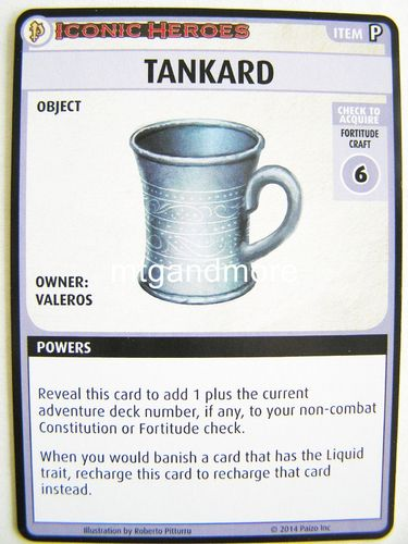 Pathfinder Battles - Tankard Boon Card - Iconic Heroes