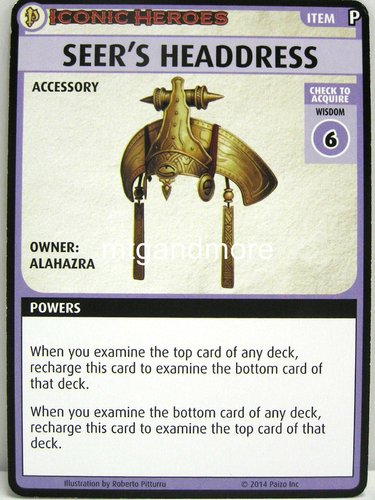 Pathfinder Battles – Seer´s Headdress Boon Card - Iconic Heroes