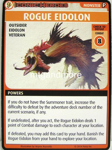 Pathfinder Battles – Rogue Eidolon Boon Card - Iconic Heroes