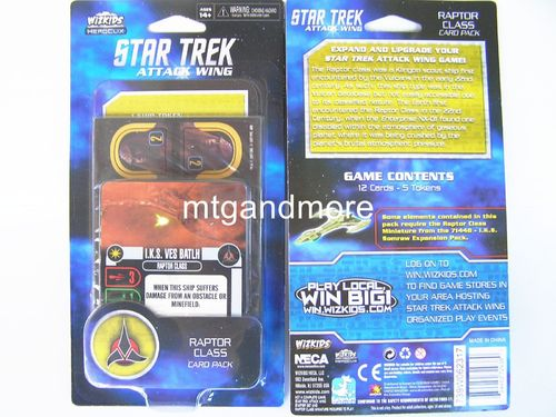 Star Trek Attack Wing - Raptor Class Card Pack