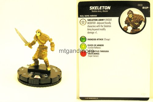 Heroclix - #003 Skeleton - Undead