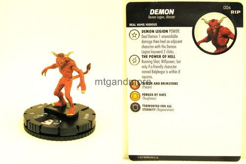 Heroclix - #004 Demon - Undead