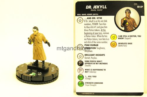 Heroclix - #011 Dr. Jekyll - Undead