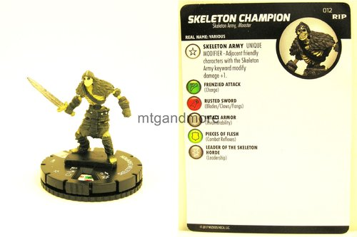 Heroclix - #012 Skeleton Champion - Undead