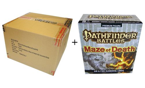 Pathfinder Battles Maze of Death Booster Case + Air and Fire Elemental Lords