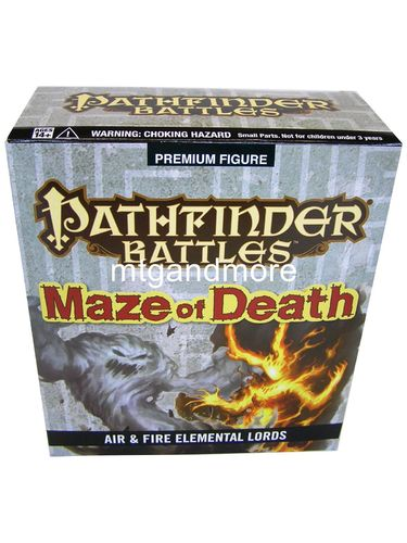 Pathfinder Battles Maze of Death Air and Fire Elemental Lords