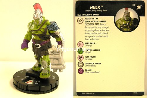Heroclix - #003 Hulk - Thor Ragnarok Movie Set