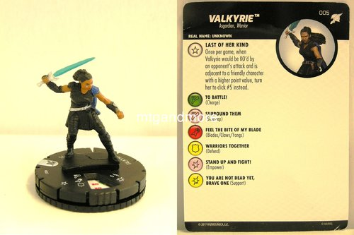 Heroclix - #005 Valkyrie - Thor Ragnarok Movie Set