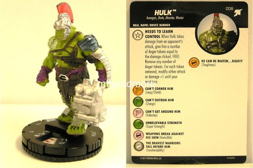 Heroclix - #008 Hulk - Thor Ragnarok Movie Set