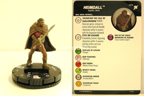 Heroclix - #009 Heimdall - Thor Ragnarok Movie Set
