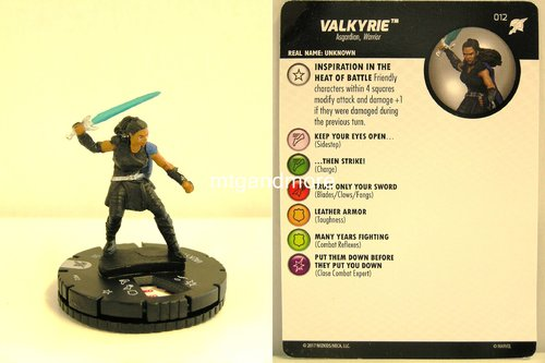Heroclix - #012 Valkyrie - Thor Ragnarok Movie Set