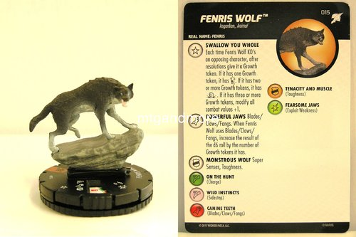 Heroclix - #015 Fenris Wolf - Thor Ragnarok Movie Set