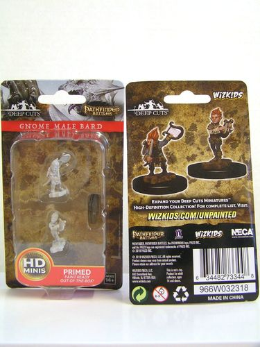 WZK73344 - Pathfinder Deep Cuts Wave 5 - Unpainted Miniatures - Gnome Male Bard