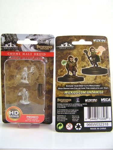 WZK73346 - Pathfinder Deep Cuts Wave 5 - Unpainted Miniatures - Gnome Male Druid