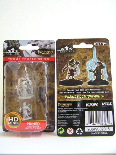 WZK73347 - Pathfinder Deep Cuts Wave 5 - Unpainted Miniatures - Gnome Female Druid