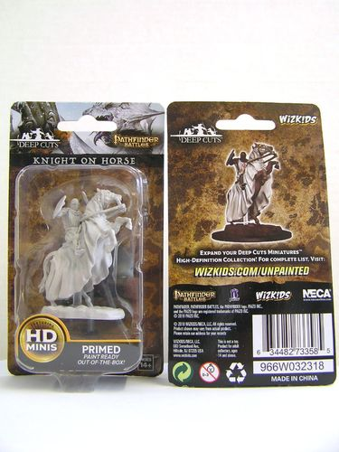 WZK73358 - Pathfinder Deep Cuts Wave 5 - Unpainted Miniatures - Knight On Horse
